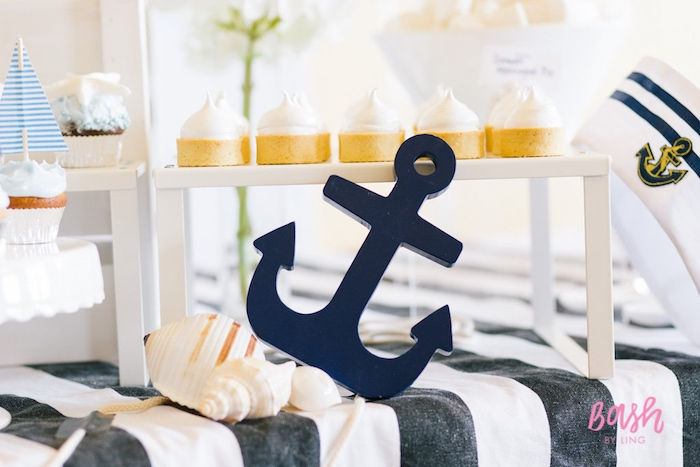Nautical party details from a Nautical Themed 100th Day Party via Kara's Party Ideas | KarasPartyIdeas.com (3)