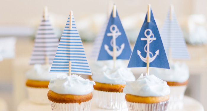 Nautical Themed 100th Day Party via Kara's Party Ideas | KarasPartyIdeas.com (1)