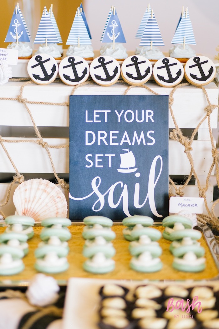 kara 39 s party ideas nautical themed 100th day party kara 39 s party ideas. Black Bedroom Furniture Sets. Home Design Ideas