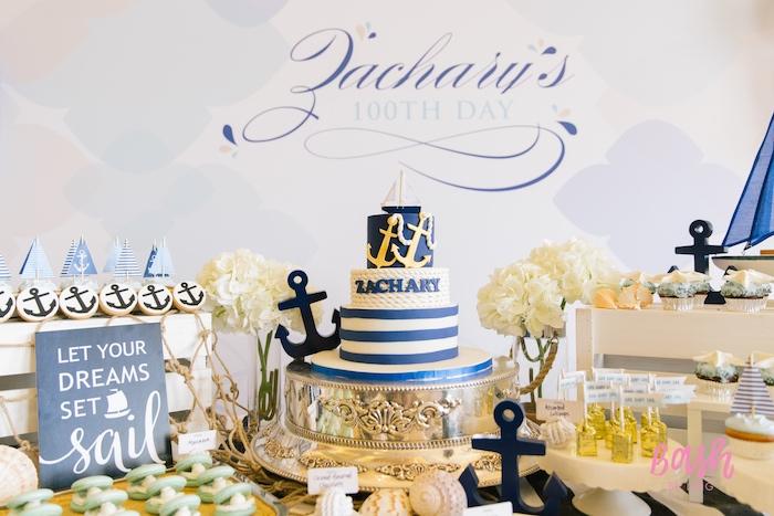 Nautical Themed 100th Day Party via Kara's Party Ideas | KarasPartyIdeas.com (21)