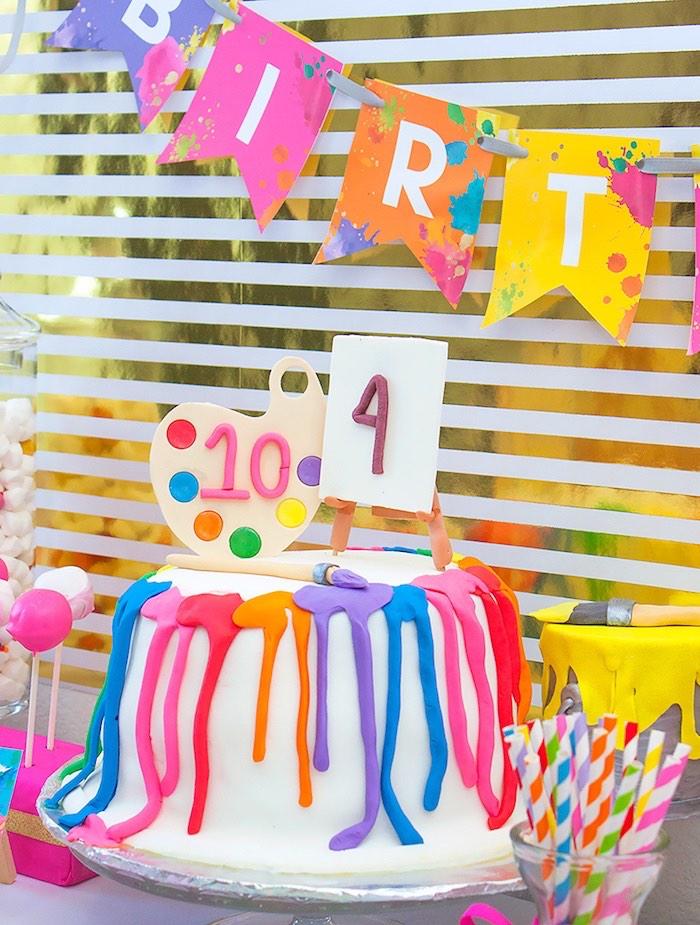 Tremendous Karas Party Ideas Neon Art Themed Birthday Party Karas Party Ideas Funny Birthday Cards Online Necthendildamsfinfo