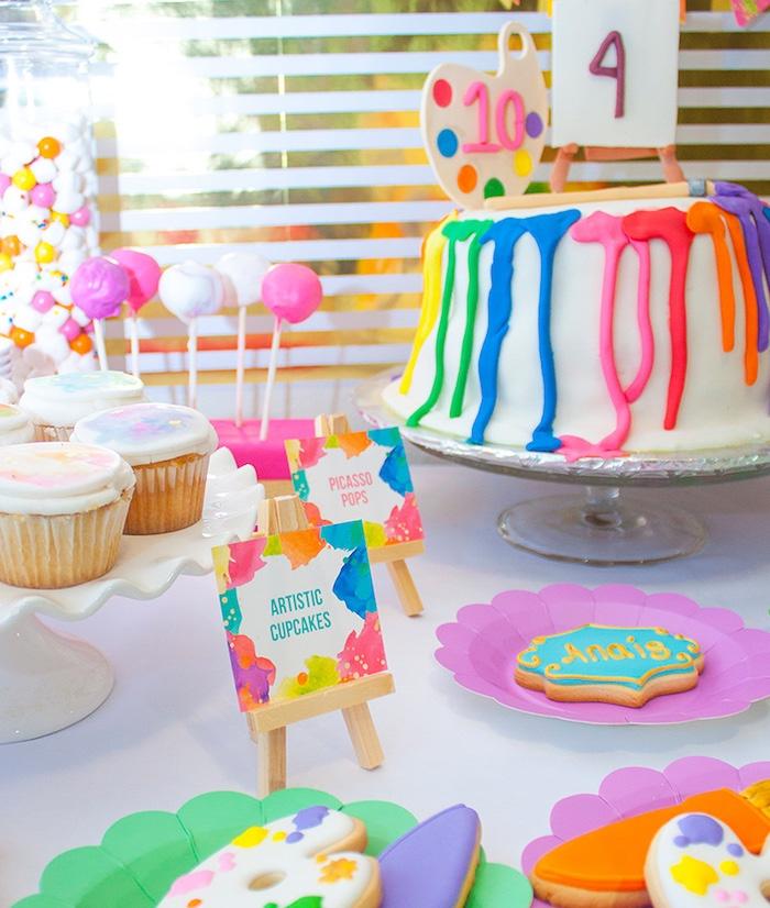 Neon Art Themed Birthday Party via Kara's Party Ideas KarasPartyIdeas.com (9)