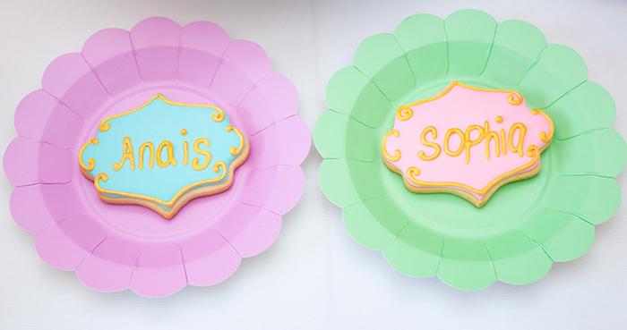 Custom name cookies from a Neon Art Themed Birthday Party via Kara's Party Ideas KarasPartyIdeas.com (22)