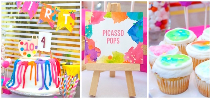 Adorable party details from a Neon Art Themed Birthday Party via Kara's Party Ideas KarasPartyIdeas.com (20)