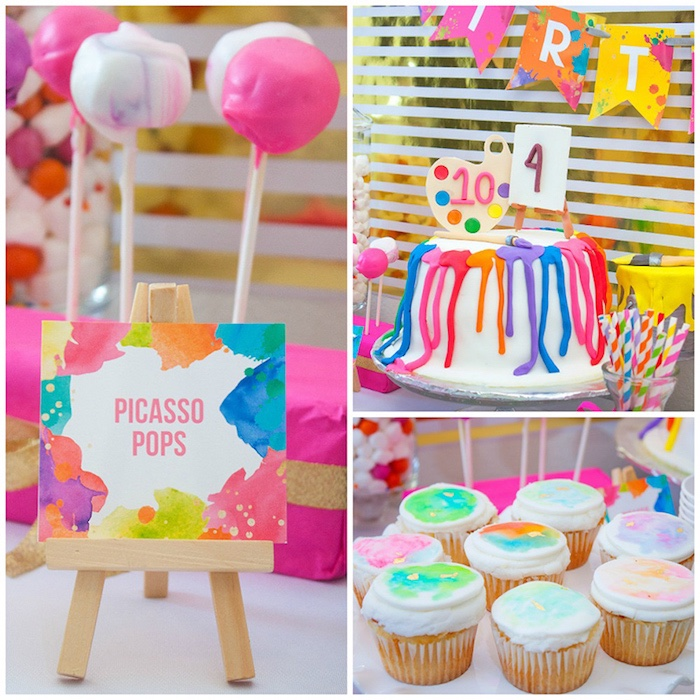 Karas Party Ideas Neon Art Themed Birthday Party Karas Party Ideas