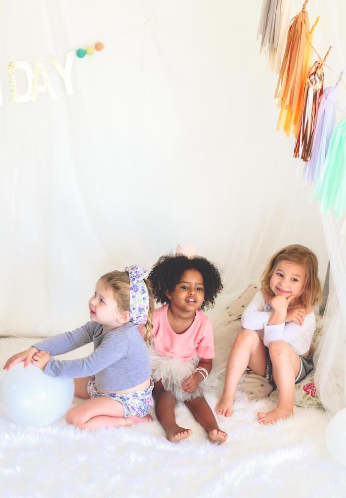 Neutral Glam + Chic 3rd Birthday Party via Kara's Party Ideas | KarasPartyIdeas.com (14)