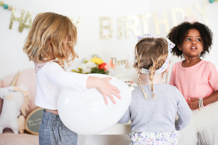 Neutral Glam + Chic 3rd Birthday Party via Kara's Party Ideas | The Place for All Things Party! KarasPartyIdeas.com