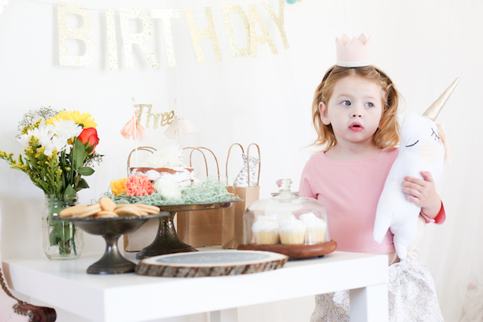 Neutral Glam + Chic 3rd Birthday Party via Kara's Party Ideas | KarasPartyIdeas.com (20)