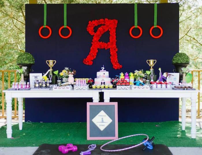 Olympic Gymnastics Themed Birthday Party via Kara's Party Ideas   KarasPartyIdeas.com (12)