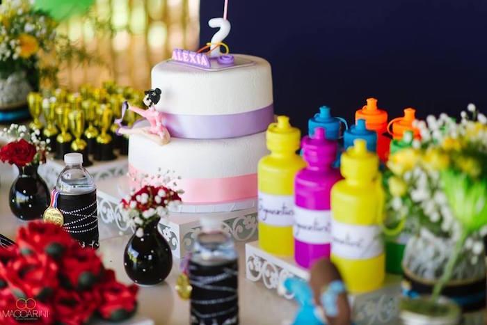 Olympic Gymnastics Themed Birthday Party via Kara's Party Ideas   KarasPartyIdeas.com (10)