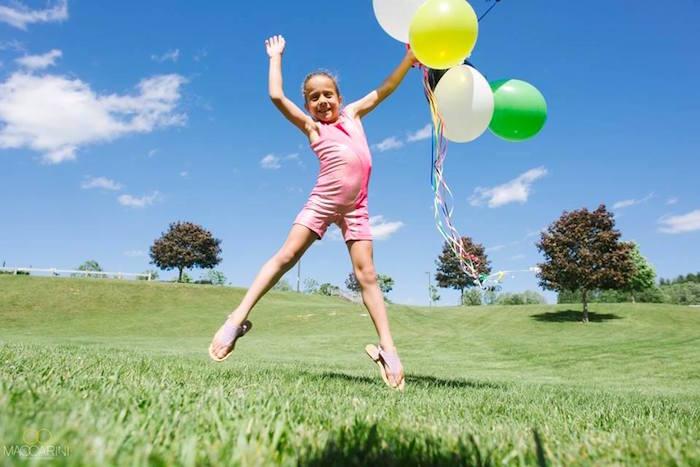 Birthday girl from an Olympic Gymnastics Themed Birthday Party via Kara's Party Ideas   KarasPartyIdeas.com (4)