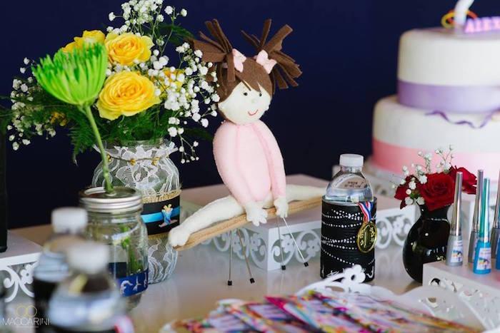 Details from an Olympic Gymnastics Themed Birthday Party via Kara's Party Ideas   KarasPartyIdeas.com (2)