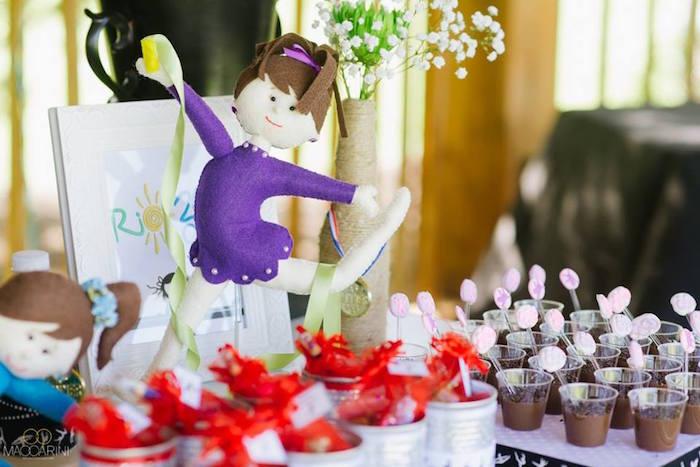 Gym doll from an Olympic Gymnastics Themed Birthday Party via Kara's Party Ideas   KarasPartyIdeas.com (30)