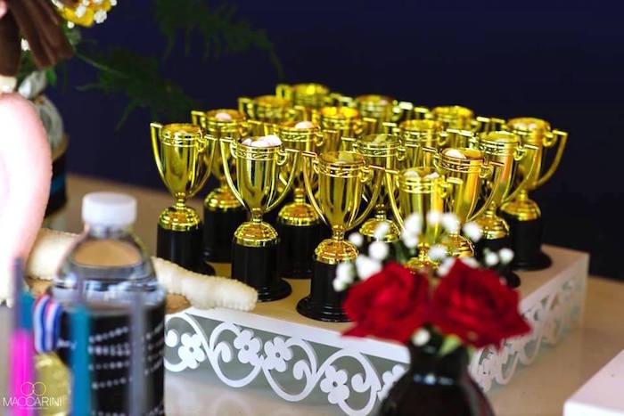 Trophies from an Olympic Gymnastics Themed Birthday Party via Kara's Party Ideas   KarasPartyIdeas.com (26)