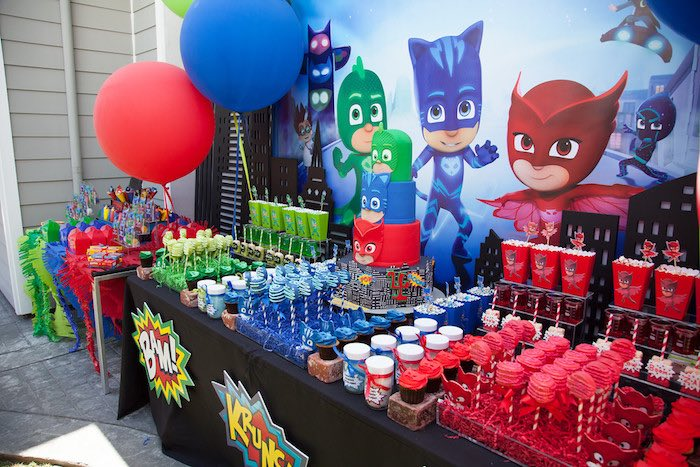 Party Details From A PJ Masks Superhero Birthday Via Karas Ideas