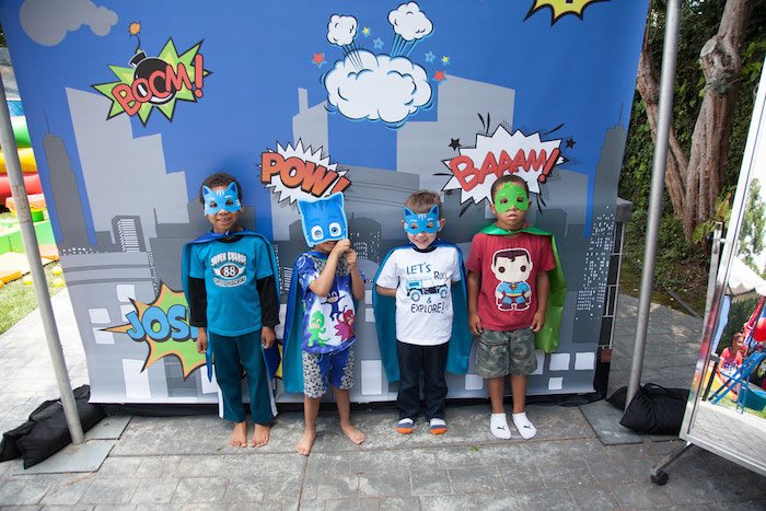 Party details from a PJ Masks Superhero Birthday Party via Kara's Party Ideas | KarasPartyIdeas.com (45)