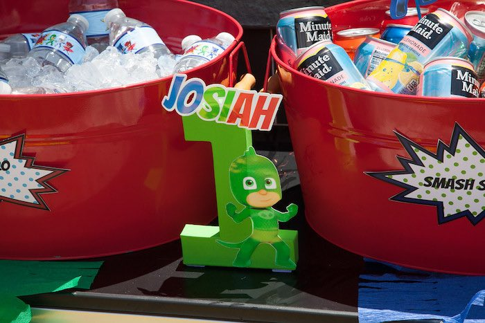 Party details from a PJ Masks Superhero Birthday Party via Kara's Party Ideas | KarasPartyIdeas.com (43)