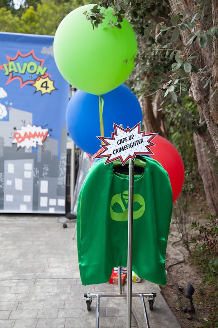 Party details from a PJ Masks Superhero Birthday Party via Kara's Party Ideas | KarasPartyIdeas.com (61)