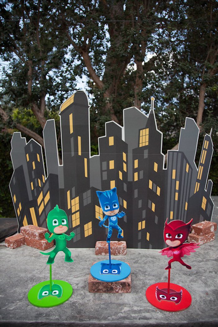 Party details from a PJ Masks Superhero Birthday Party via Kara's Party Ideas | KarasPartyIdeas.com (38)