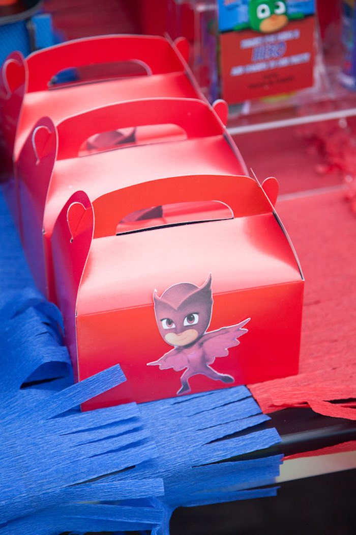 Party details from a PJ Masks Superhero Birthday Party via Kara's Party Ideas | KarasPartyIdeas.com (35)