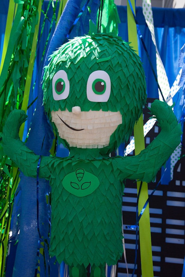 Party details from a PJ Masks Superhero Birthday Party via Kara's Party Ideas | KarasPartyIdeas.com (34)