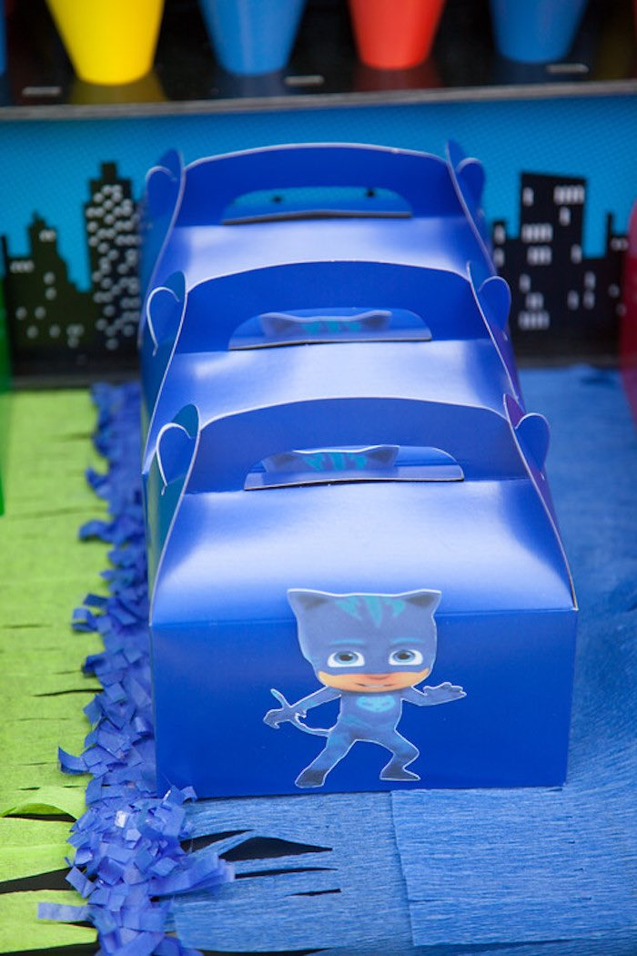 Party details from a PJ Masks Superhero Birthday Party via Kara's Party Ideas | KarasPartyIdeas.com (32)