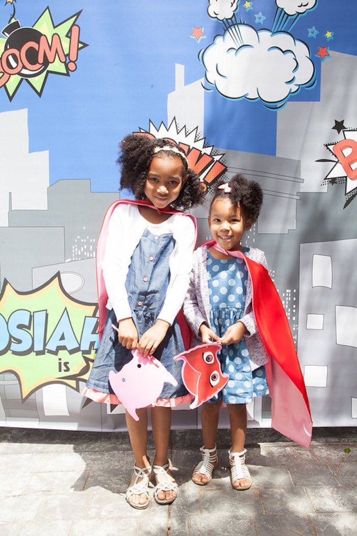 Party details from a PJ Masks Superhero Birthday Party via Kara's Party Ideas | KarasPartyIdeas.com (26)