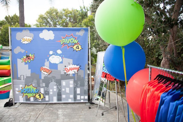 Party details from a PJ Masks Superhero Birthday Party via Kara's Party Ideas | KarasPartyIdeas.com (21)