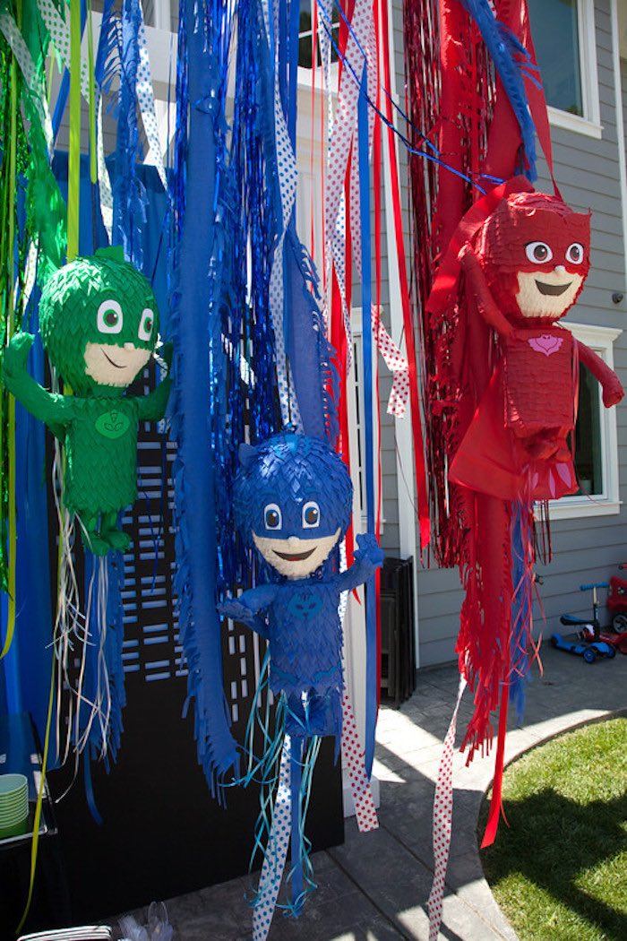 Party details from a PJ Masks Superhero Birthday Party via Kara's Party Ideas | KarasPartyIdeas.com (20)