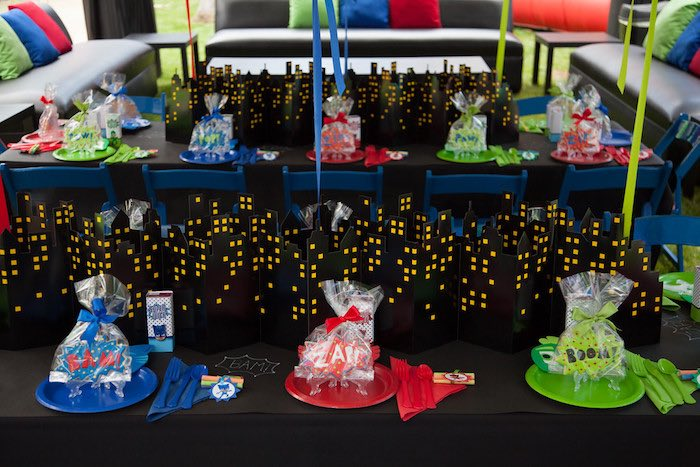Party details from a PJ Masks Superhero Birthday Party via Kara's Party Ideas | KarasPartyIdeas.com (19)