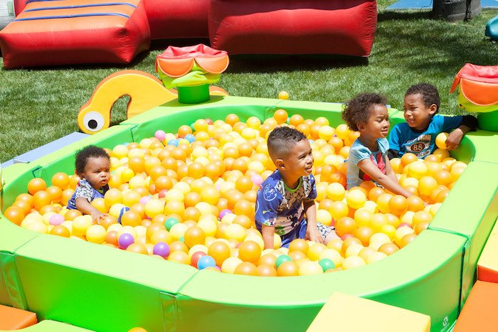 Party details from a PJ Masks Superhero Birthday Party via Kara's Party Ideas | KarasPartyIdeas.com (15)