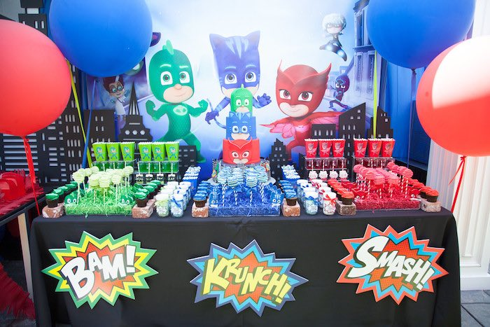 Kara S Party Ideas Pj Masks Superhero Birthday Party