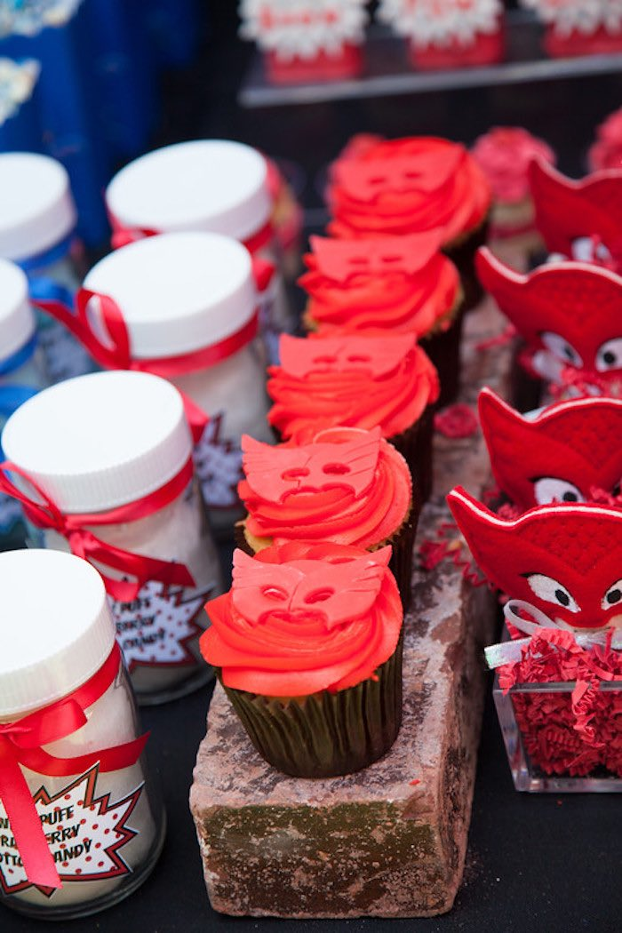 Party details from a PJ Masks Superhero Birthday Party via Kara's Party Ideas | KarasPartyIdeas.com (13)