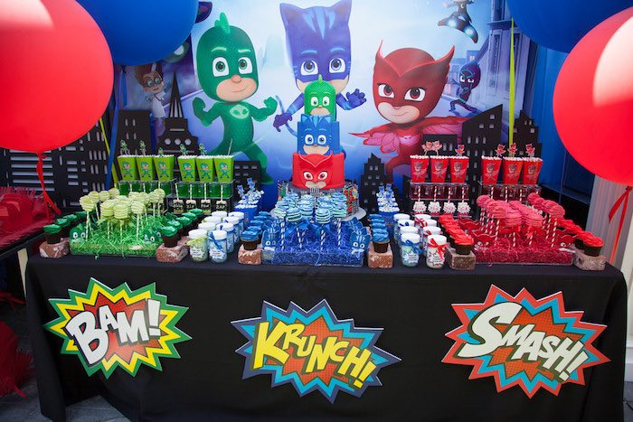 Kara's Party Ideas PJ Masks Superhero Birthday Party | Kara's ...