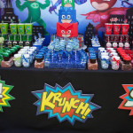 Party details from a PJ Masks Superhero Birthday Party via Kara's Party Ideas | KarasPartyIdeas.com (1)