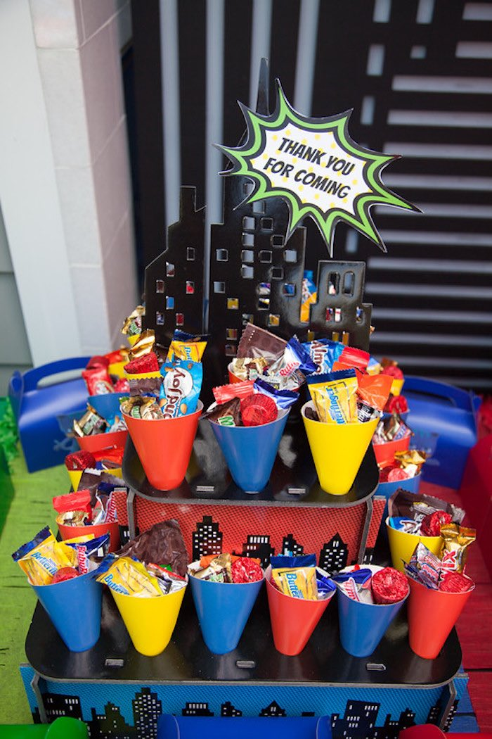 Party details from a PJ Masks Superhero Birthday Party via Kara's Party Ideas | KarasPartyIdeas.com (55)