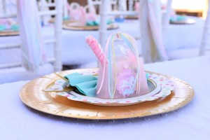 Place setting from a Pastel Unicorn Themed Birthday Party via Kara's Party Ideas | KarasPartyIdeas.com (26)