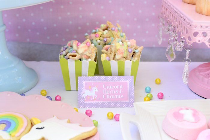 Unicorn Horns & Charms from a Pastel Unicorn Themed Birthday Party via Kara's Party Ideas | KarasPartyIdeas.com (22)
