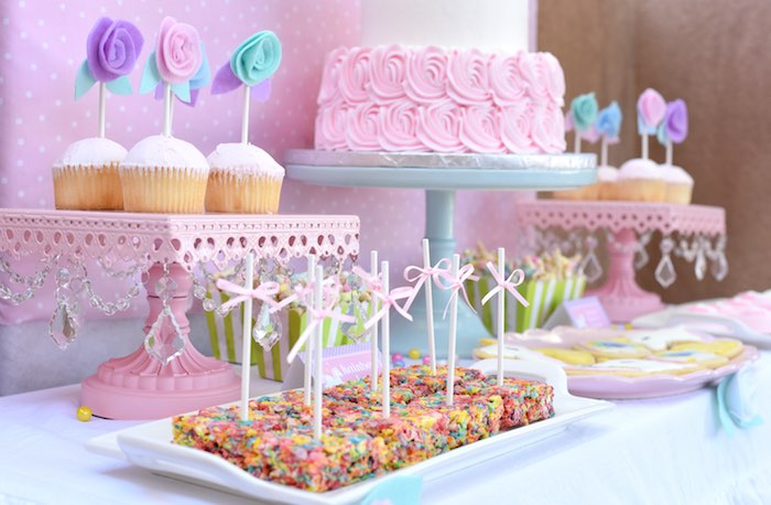 Sweet tablescape from a Pastel Unicorn Themed Birthday Party via Kara's Party Ideas | KarasPartyIdeas.com (20)