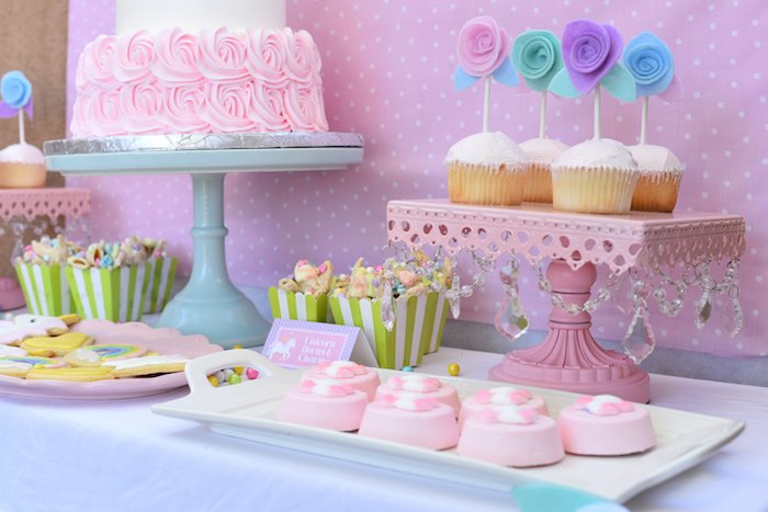 Sweets from a Pastel Unicorn Themed Birthday Party via Kara's Party Ideas | KarasPartyIdeas.com (19)