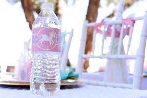 Water bottle from a Pastel Unicorn Themed Birthday Party via Kara's Party Ideas | KarasPartyIdeas.com (13)