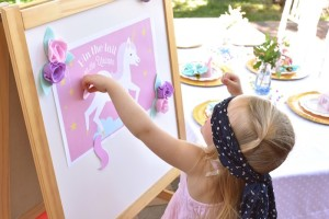 Pin the tail on the unicorn game from a Pastel Unicorn Themed Birthday Party via Kara's Party Ideas | KarasPartyIdeas.com (11)
