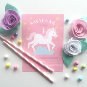 Unicorn Party Invitation from a Pastel Unicorn Themed Birthday Party via Kara's Party Ideas | KarasPartyIdeas.com (4)