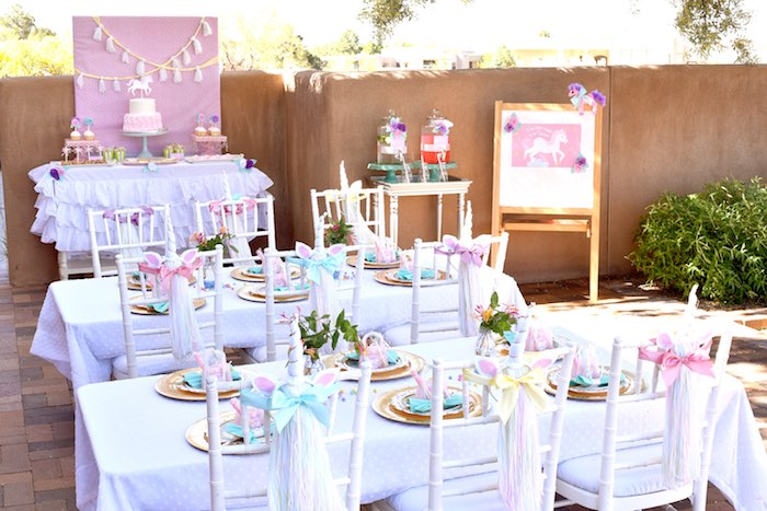 Pastel Unicorn Themed Birthday Party Via Karas Ideas