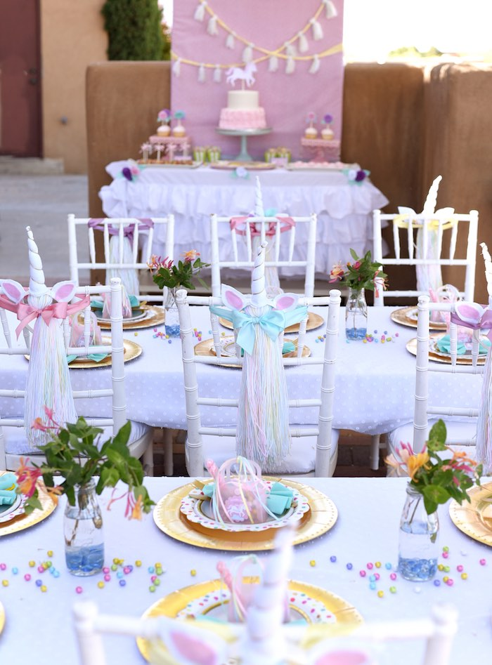 Unicorn Party Tablescapes from a Pastel Unicorn Themed Birthday Party via Kara's Party Ideas | KarasPartyIdeas.com (32)