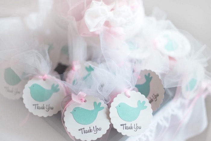 Little Bird Favors From A Pastel Woodland Baby Shower Via Karau0027s Party  Ideas KarasPartyIdeas.com
