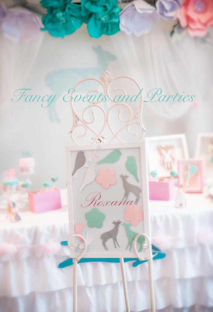 Kara S Party Ideas Pastel Woodland Baby Shower Kara S