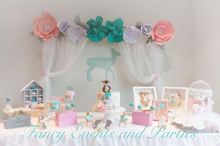 Pastel Woodland Baby Shower via Kara's Party Ideas KarasPartyIdeas.com (3)