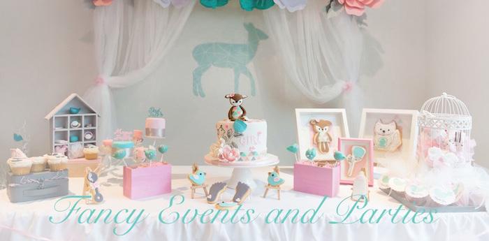 Kara S Party Ideas Pastel Woodland Baby Shower Kara S