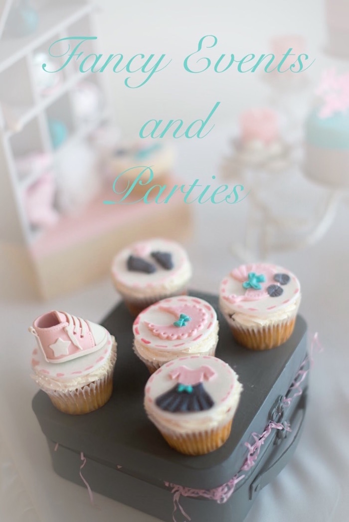 Cupcakes from a Pastel Woodland Baby Shower via Kara's Party Ideas KarasPartyIdeas.com (13)